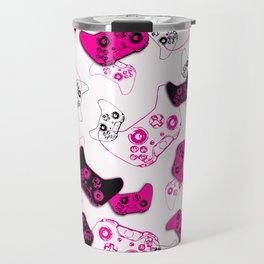 Video Game White & Pink Travel Mug