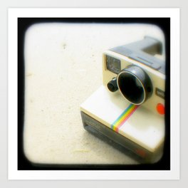 Polaroid Camera Art Print
