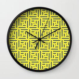 Human History (Lemon and Blue) Wall Clock