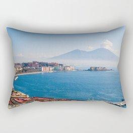 View of Naples Bay, Italy Rectangular Pillow
