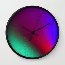 Rainbow colour waves Wall Clock
