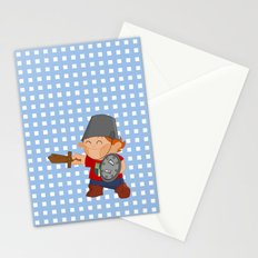 little knight, playing to grow Stationery Cards
