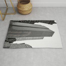 Grey Glass Buildings Rug