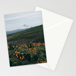 Mount Hood Blooms II Stationery Cards