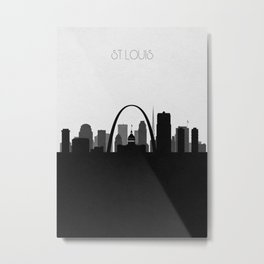 City Skylines: St. Louis Metal Print