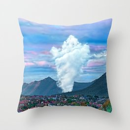 Cold Winter Morning Spectre Over Phoenix Throw Pillow