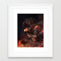 atheist Framed Art Prints featuring Thoughts of A Dying Atheist by Matteus Faria