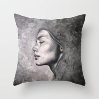 destiny Throw Pillows featuring Destiny by Pamela Schaefer