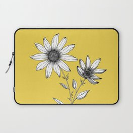 Wildflower line drawing | Botanical Art Laptop Sleeve