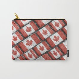 Canadian Flag Motif Pattern Carry-All Pouch