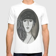 Bright Eyed Girl MEDIUM Mens Fitted Tee White
