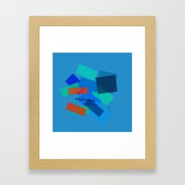 Retracting in Motion Framed Art Print