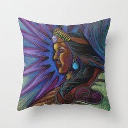Cihtli - Higher self portrait Throw Pillow