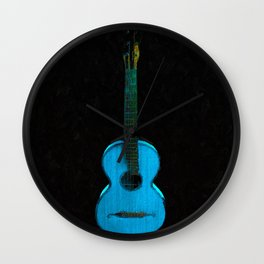 Blue Guitar Music Music Lover Instrument Wall Clock