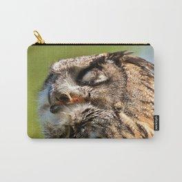 Eagle Owl Head Closeup Carry-All Pouch