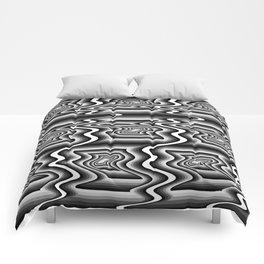 Grey Optical Pattern Comforters