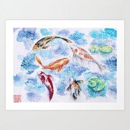 Koi Art Print