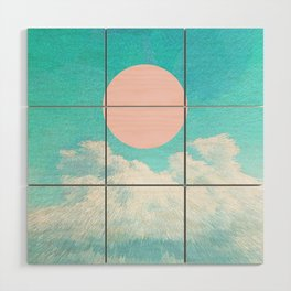 Adventure through the icy clouds Wood Wall Art