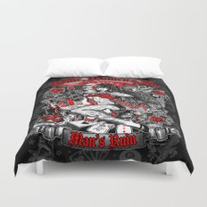 Wine Women & Sin Tattoo Girl Duvet Cover