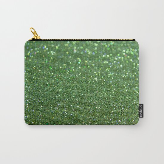 Green sparkle glitter effect background for girlies on #Society6 Carry-All Pouch
