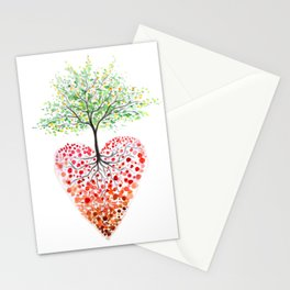 Tree of life heart Stationery Cards