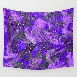 Aftermath of Spring, Abstract Floral Mosaic Art Wall Tapestry
