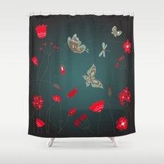 Tatemae Japanese Green Shower Curtain