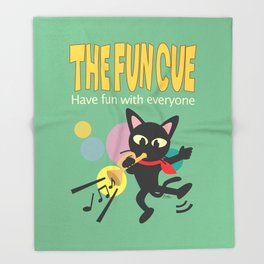 The fun cue Throw Blanket
