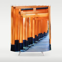 The Orange Torii Gates at Fushimi Inari Taisha, Kyoto Shower Curtain