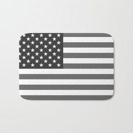 National flag of the USA, B&W version Bath Mat