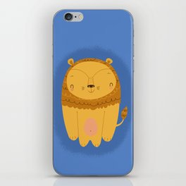 happy smiling lion iPhone Skin