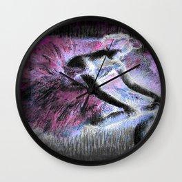 The Dancer by Edgar Degas Pink Purple Wall Clock