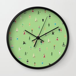 people in the green Wall Clock
