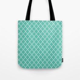 Quatrefoil - Teal Tote Bag