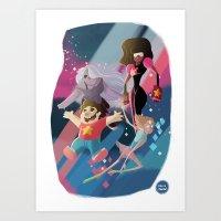 steven universe Art Prints featuring Steven Universe by David Pavon