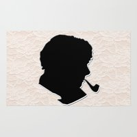sherlock holmes Area & Throw Rugs featuring Sherlock Holmes by thescudders