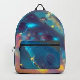 Electric Blue Floral Dew   Backpack