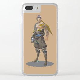 Pixel Hanzo Clear iPhone Case