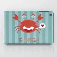 cancer iPad Cases featuring Cancer by Esther Ilustra
