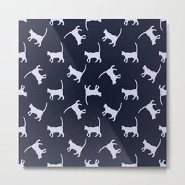 Cat Strut Metal Print