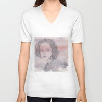 shadow V-neck T-shirts featuring shadow by Shiro