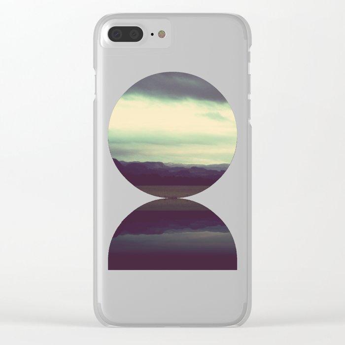 Dark Landscape Clear iPhone Case