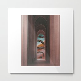 'Mind Hallways' Metal Print