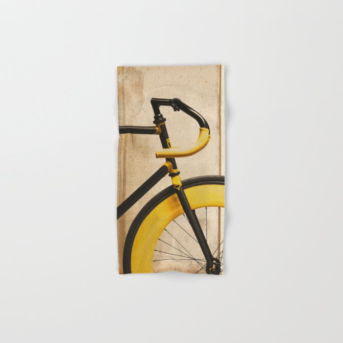 Bike With Yellow Details Hand & Bath Towel