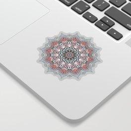 Expansion - boho mandala in soft salmon pink & blue Sticker