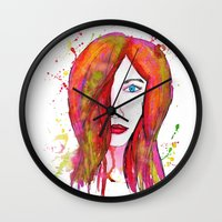 valentina Wall Clocks featuring Valentina by Laurie Art Gallery
