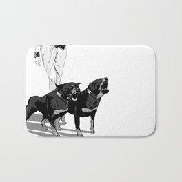 Fashion Rottweiler  Bath Mat