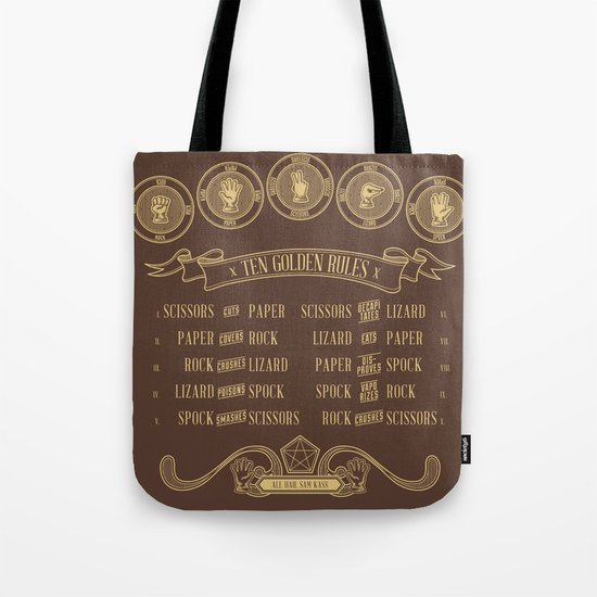 Rock Paper Scissors Lizard Spock Alternate Tote Bag