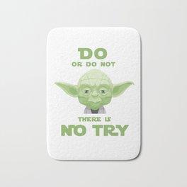 Star - Yoda quote do or do not - Wars Bath Mat