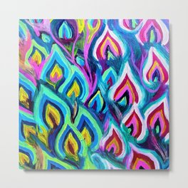 Flames Entwined Metal Print